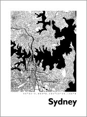 Naklejka na ścianę  City map of Sydney - 44spaces