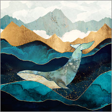 Gallery print  Blue Whale - SpaceFrog Designs