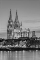 Gallery print  Cologne Cathedral black-and-white - Michael Valjak