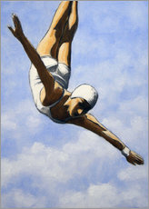 Obraz na PCV  Diver in the clouds II - Sarah Morrissette