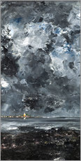 Obraz na drewnie  The town - August Johan Strindberg