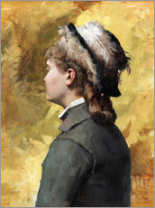 Plakat Young woman in gray