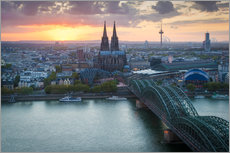 Plakat Sunset over Cologne