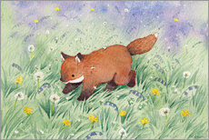 Obraz na PCV  Fox in the meadow - Michelle Beech