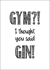 Plakat  Gym or Gin - Typobox