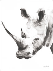 Gallery print  White rhinoceros