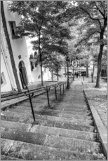 Obraz na drewnie  Endless steps to Montmartre