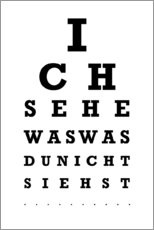 Obraz na PCV  Eye test German - Typobox