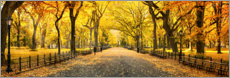 Obraz na drewnie  Central Park in Autumn - Art Couture