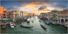 Plakat Sunset over the Grand Canal
