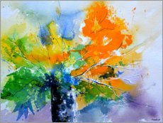 Gallery print  Colorful, abstract bouquet - Pol Ledent