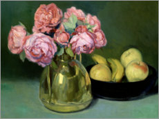 Plakat Still life of flowers and fruits