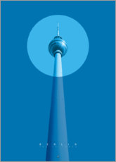 Plakat Berlin TV tower