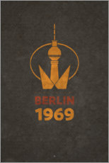 Plakat Berlin 1969 - TV Tower