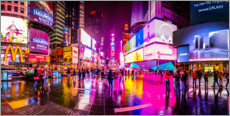 Plakat Times Square New York after the rain