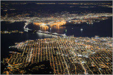 Plakat  San Francisco at night - Ulrich Beinert