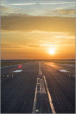 Plakat  Runway in the sunset - Ulrich Beinert