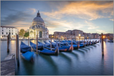 Plakat Gondolas on the Grand Canal in Venice