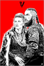 Plakat Lagerta and Ragnar Lothbrok