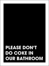 Gallery print  Please don't do coke - Typobox