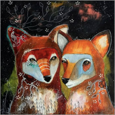 Plakat Foxes - Home is where you are