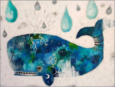 Plakat Submerge - Abstract whale