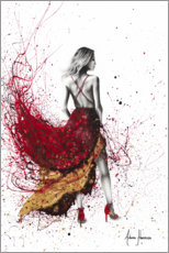 Plakat Woman in red