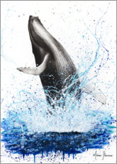 Plakat Whale breaks to the surface