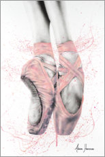 Obraz na drewnie  Pretty Pointe Ballet Shoes - Ashvin Harrison