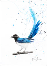 Plakat Peaceful Blue Bird