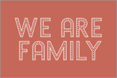 Plakat We are family