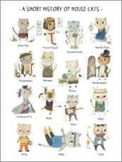 Plakat A short history of domestic cats