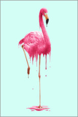 Plakat Melting flamingo