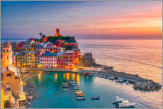 Plakat Vernazza in the sunset