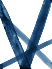 Plakat Watercolor Lines in Blue II