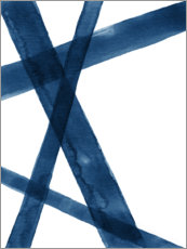 Plakat Watercolor Lines in Blue I