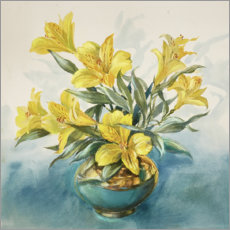 Plakat Yellow Lillies