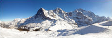 Plakat Skiing at the Eiger