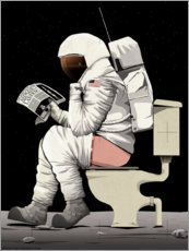 Obraz na PCV  Astronaut on the toilet - Wyatt9