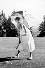 Obraz na PCV  Audrey Hepburn playing Golf - Celebrity Collection