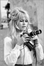 Gallery print  Brigitte Bardot z kamerą - Celebrity Collection