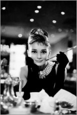 Obraz na PCV  Audrey Hepburn w Śniadaniu u Tiffaniego - Celebrity Collection