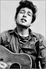 Naklejka na ścianę  Bob Dylan with guitar - Celebrity Collection