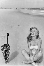 Plakat  Marilyn Monroe at the beach - Celebrity Collection