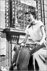 Gallery print  Audrey Hepburn on a Vespa - Celebrity Collection