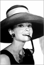 Plakat  Audrey Hepburn w kapeluszu - Celebrity Collection