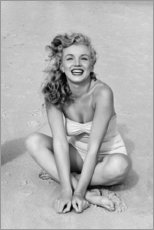 Obraz na aluminium  Marilyn Monroe in a bathing suit - Celebrity Collection