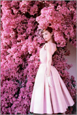 Obraz na PCV  Audrey Hepburn in an evening dress. - Celebrity Collection