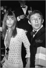 Obraz na płótnie  Jane Birkin i Serge Gainsbourg - Celebrity Collection