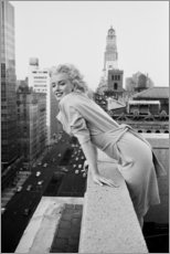 Obraz na drewnie  Marilyn Monroe w Nowym Jorku - Celebrity Collection